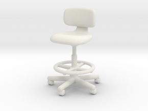 1:12 Miniature Rookie High - Konstantin Grcic in White Natural Versatile Plastic: 1:12