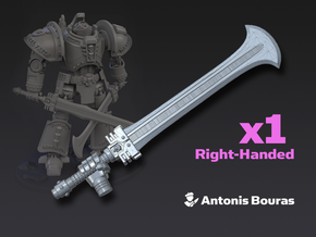 Arch Battleknight: Deamon Cleaver (Right) in Smooth Fine Detail Plastic