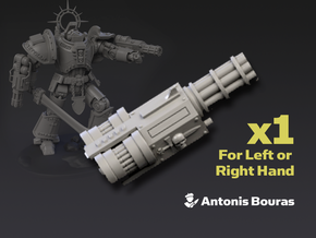 Arch Battleknight: Hurricane Cannon in Smooth Fine Detail Plastic