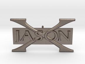 X Pendant ⛧VIL⛧ in Polished Bronzed-Silver Steel