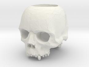 Skull Blade Ring in White Natural Versatile Plastic