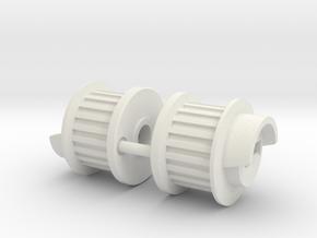 Schumacher Bosscat layshaft pulley in White Natural Versatile Plastic