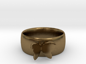 Butterfly Ring in Raw Bronze