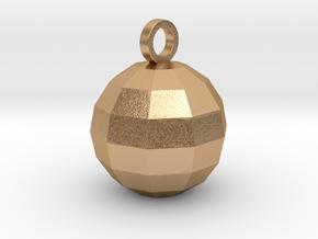 disco ball pendant matte in Natural Bronze