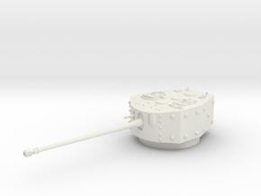 1/72 TOG II* Turret in White Natural Versatile Plastic