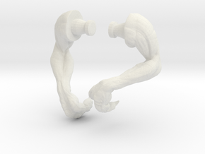 Kenner Electronic T-Rex Arm Set Curled in White Natural Versatile Plastic
