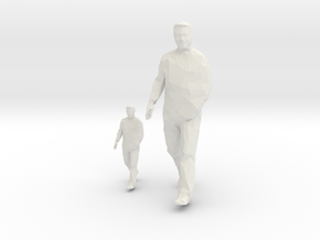 Architectural Man - 1:50 + 1:100 - Walking (2) in White Natural Versatile Plastic