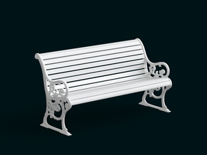 1:10 Scale Model - Bench 03 in White Natural Versatile Plastic