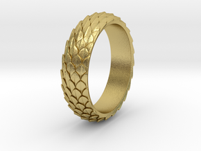 Dragon Scale Ring_B in Natural Brass: 5 / 49