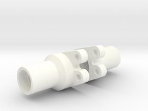 Losi Mini Rock Crawler Lockout for rear axle in White Processed Versatile Plastic