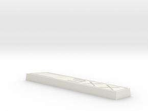 Cupra 3XX Text Badge in White Natural Versatile Plastic