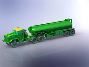 M931 Tractor w. M969 Tanktrailer 1/160 in Smooth Fine Detail Plastic
