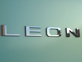 Seat Leon Logo Text Letters - Original OEM Size in White Natural Versatile Plastic