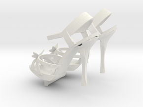 1:14 High Heels Schuhe Shoes in White Natural Versatile Plastic