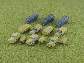 V2 Rocket Supply Convoy 1/285 6mm in Smooth Fine Detail Plastic