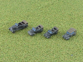 German Mercedes Staff-Cars G4 and 170VK 1/285 6mm in Smooth Fine Detail Plastic
