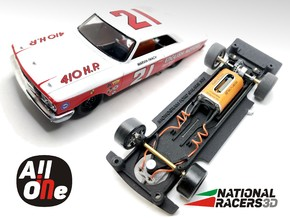 Chassis - Monogram Ford Galaxie 500 (AiO-In) in Black Natural Versatile Plastic