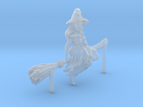 HO Scale Flying Witch in Smooth Fine Detail Plastic