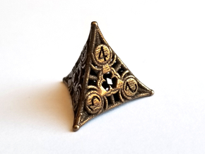 D4 Balanced - Spiders in Polished Bronze Steel