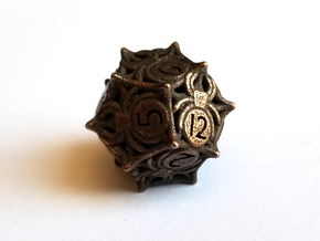 D12 Balanced - Spiders in Polished Bronze Steel