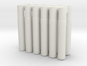 Expandable Barrel Lap: 8-32 Threading (12 Pack) in White Natural Versatile Plastic