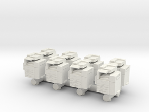 Office Printer (x8) 1/100 in White Natural Versatile Plastic