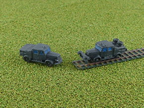 German Faun ZR & ZRS Tractors 1/285 in Smooth Fine Detail Plastic