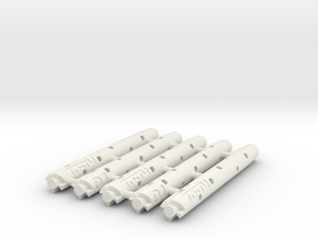 Adapter: 77.5mm G2 Type to D1 Mini (x5) in White Natural Versatile Plastic