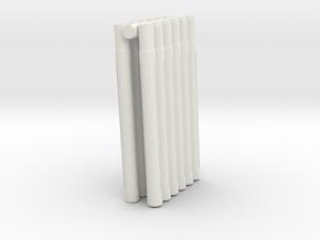 Expandable Barrel Lap: Long Version (12 Pack) in White Natural Versatile Plastic