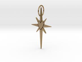 LightStar in Polished Gold Steel: Medium