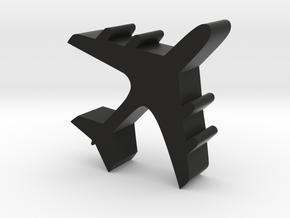 Airplane Meeple Token for Board Games in Black Natural Versatile Plastic