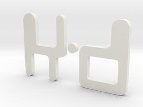 Logo Revised v1 in White Natural Versatile Plastic