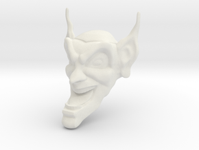Goblin mask  -88.9mm-between ears in White Natural Versatile Plastic