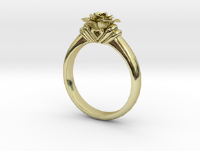 Flower Ring 46 (Contact to Add Stones) in 18K Yellow Gold
