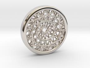 Triple Layered Spirograph Pendant in Platinum