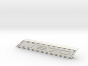 Cupra 370 Text Badge in White Natural Versatile Plastic