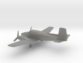 Beechcraft Model 50 Twin Bonanza in Gray PA12: 1:160 - N
