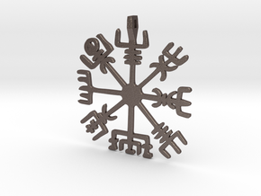 Vegvisir Stainless Steel, Bronze and Brass in Polished Bronzed-Silver Steel
