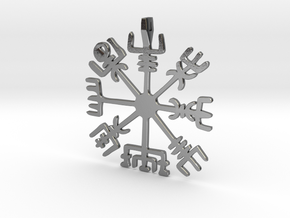 Vegvisir Sterling Silver, Plated Brass, 14k Gold in Polished Silver