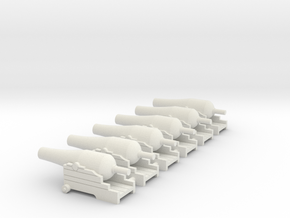 144 SIX NAVAL CANNON GAME in White Natural Versatile Plastic