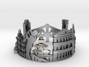New Orleans - Skyline Cityscape Ring in Polished Silver: 8.5 / 58