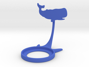 Animal Whale in Blue Processed Versatile Plastic