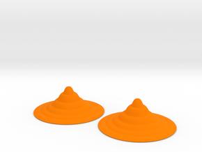 Pasties 2p6dia_0p7h ripples in Orange Processed Versatile Plastic