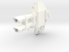 Ares Dreadnought left Lascannon blank #1 in White Processed Versatile Plastic