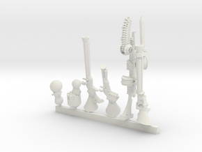 Tech Knight: Right Hand Weapon Pack 5 in White Natural Versatile Plastic