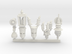 Tech Knight Heads Collection 2 in White Natural Versatile Plastic