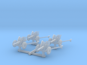 3.7cm Pak 36 (deployed) (x4) 1/144 in Smooth Fine Detail Plastic