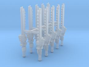 Primaris Pattern Chainswords x10 w/ hands R #1 in Smooth Fine Detail Plastic