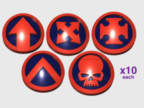 50x Circle Squad: Variety Pack in Smooth Fine Detail Plastic