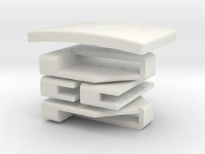 Sabine Holster Belt Hardware Set  in White Natural Versatile Plastic: Small